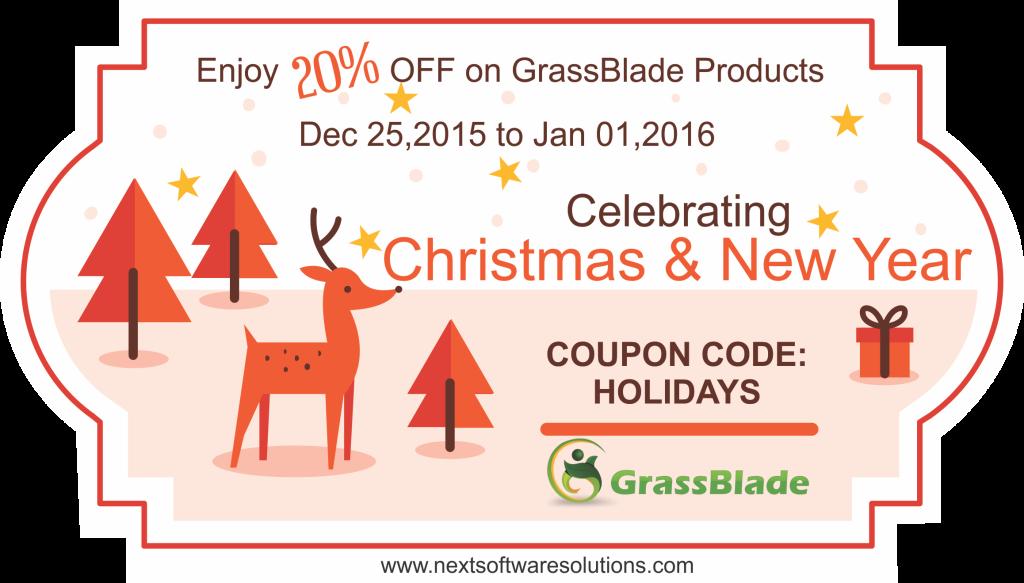 Holidays Sale on GrassBlade