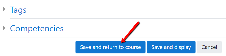 Add content in course