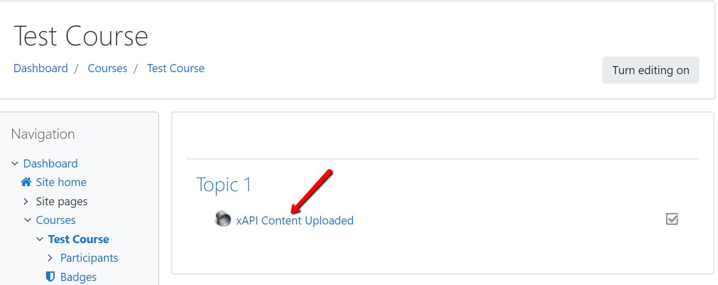 Launch xAPI Content