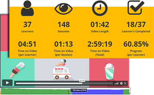 User activity overview on video content